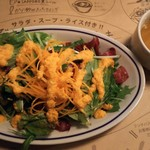 BISTRO GABURI - サラダ大盛り+\100とスープ