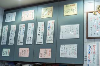 鮨よし - 廚(くりや)の菜單(しながき)