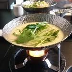 86029465 - 小鍋  湯豆腐豆乳白味噌仕立て