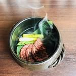 博多 心風 - 馬肉の瞬間燻製
