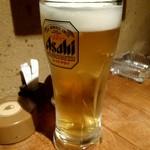 魚屋ひでぞう - 生ビール(アサヒ スーパードライ) 420円