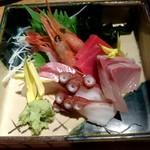 魚屋ひでぞう - お造り盛り合わせ(5種)  780円
