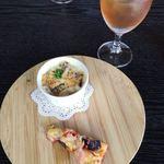 グレンデール - 料理写真:前菜のグラタンとピザ