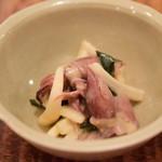 東白庵かりべ - ホタルイカとウドの酢味噌和え@税込600円