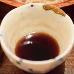 東白庵かりべ - 【せいろそば@税込1,000円】蕎麦汁