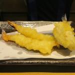 天ぷらとワイン 小島 - お好み天定食(レンコン ちくわ タケノコ さつま芋 海老2尾 白身魚 かしわ)4