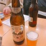 立飲みいこい - アサヒ 大瓶 410円(4月〜 440円)