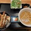 割烹 魚勇 - 料理写真:天丼セット(うどん)