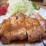 やなせ本店 - 豚ロース生姜焼き定食