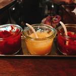 月琴の小さな餃子屋さん - 「豆板醤」「おろしにんにく」「辛味噌」