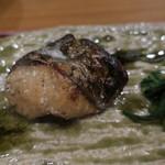分田上 - 鰆の幽庵焼き 春菊と2