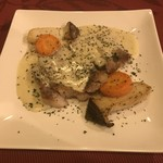 キャトル フィーユ - 豚ロースの肉ソテー ゴルゴンゾーラソース