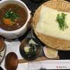 五代目 花山うどん - 料理写真:鶏だし南極カレーつけ(鬼ひも川)
