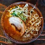 ふじの - 「味噌ラーメン 麺」(2018.04)