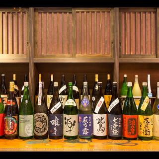 滋賀の地酒も豊富に取り揃えています