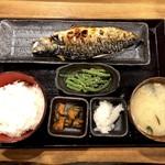 しんぱち食堂 - さば文化干し定食(720円)+いんげん胡麻和え(50円)