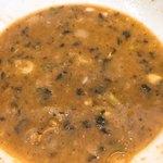 ラーメン英二 - 残ったスープに追い飯を入れたら美味いだろう
