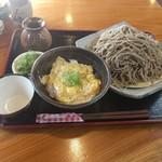 隠れ庵 - 料理写真:ざるそば大盛+玉子丼