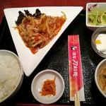 酒菜 刀削麺 - 茄子の四川風 甘辛炒めセット 780円 これに飲み物が付きます
