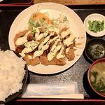 つかさ亭 - チキンカツタルタルソースがけ定食 ¥850