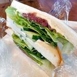 86065776 - 生ハムと野菜のサンドイッチ