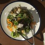 牡蠣と肉 KAKIMASA - おかわり自由のサラダ 450円