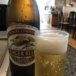 はよし - ドリンク写真:さあお好み焼きにはビールは必須ですね!(2018.5.18)