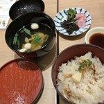 KICHI - 筍御飯とお吸い物など