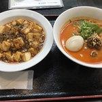 ロッキー - 担々麺と麻婆丼のセット ※味玉追加