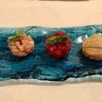 Il San Lorenzo - 料理写真:ポンツァ島の海の幸です 日本でいうと3点盛りみたいな感じでしょうか(笑)