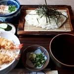 峰の里 - 料理写真:ランチえび天丼稲庭うどんセット972円