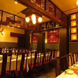 高級感を味わえる中国古典風の個室