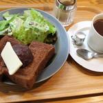 86072882 - モーニングコーヒー+角食トーストwith小倉あん・バター550円
