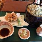 板そば 喜右衛門 - 桜海老天ぷらそば 大盛 1,420円(税別)