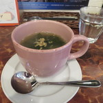 プカ オーガニクス - 新玉ねぎとワカメの中華風スープ