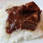 洋食屋 もりもり - 洋食屋 もりもり @森下 ビーフシチュー on the rice