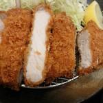 松のや - 『厚切りロースかつ定食』(税込み680円)