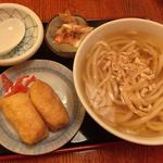 因幡うどん - 朝定:いなり寿司定食