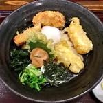 はるりん - 料理写真:とり天揚げ餅梅おろしぶっかけ