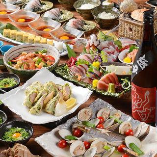 各種宴会に!夏の食材満載の豪華コース!