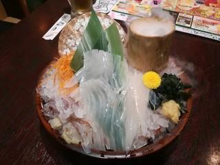 三代目網元 魚鮮水産 函館五稜郭本町店 - 活イカ踊り刺身 その2