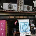 86085555 - 建物は戦後、看板は戦前。お店のお二人お話大好きです。