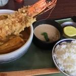 盛喜 - 天ぷらカレーうどん 定食