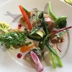 86093072 - <ランチA>ニシンのマリネ,鶏のファルシー,ミートローフ,野菜盛