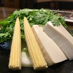 小滝野 - 牛タンしゃぶしゃぶ 一人前3,800円×2=7,600円 セットの野菜