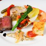トラットリア・クラウディア - 冷前菜の盛り合わせ
