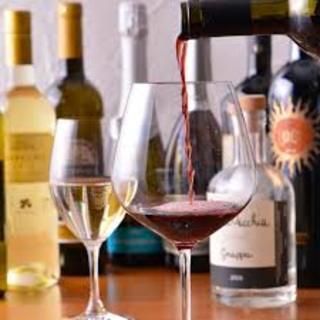 食事とご一緒に是非こだわりのワインを。