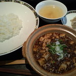 8610885 - 分離した 辛くない「四川麻婆豆腐」と「ご飯」 【 2011年7月 】