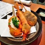 串揚げ 月のなごみ - 牡蠣、天使の海老、シイタケ、レンコン