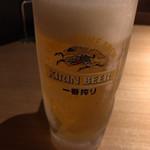 和牛焼肉じろうや 介 wagyu&sake - 生ビールは一番搾り